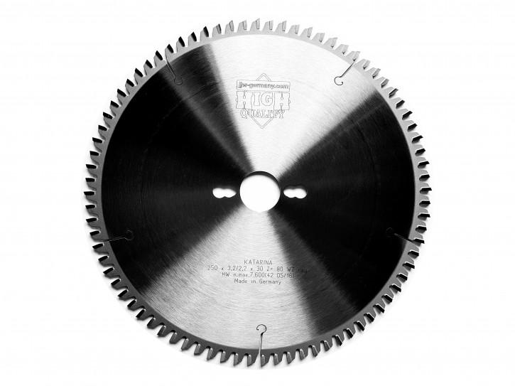 HM - Kreissägeblatt Noel 250 x 30 Z= 80 TF negativ für Aluminium oder Kunststoffprofile