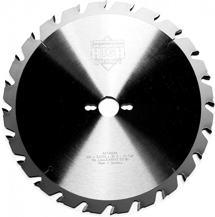 HM – Kreissägeblatt Natascha 300 x 30 Z= 24 FWF für Holz, Brennholz nagelfest