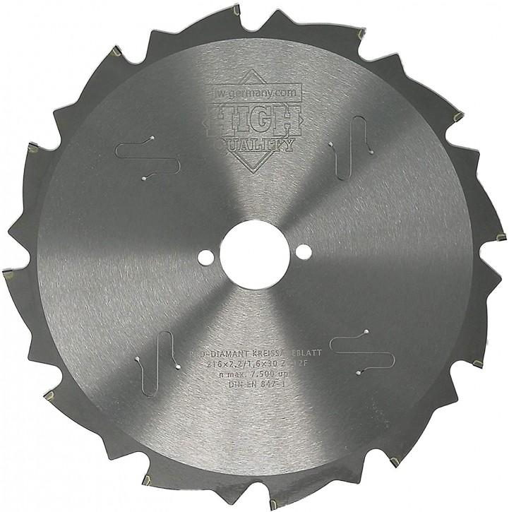 PKD - Diamant Sägeblatt 216 x 2,2 x 30 Z= 12 FL negativ für zementgebundene Faserplatten