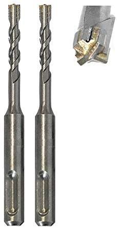 2 St. HM - SDS PLUS High-Quality Hammerbohrer Betonbohrer Z= 4 D= 6mm x 110 mm mit Zentrierspitze